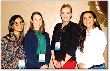 Figure 1. Clinical Case Poster Award Recipients (left to right): Drs. Melanie Frogozo, Laurel Hammang, Jessica Jose, and Patricia Flores-Rodriguez.