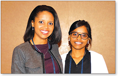 Figure 2. Research Poster Award Recipients (left to right): Drs. Anna Kaye-Logan and Rajini Peguda.