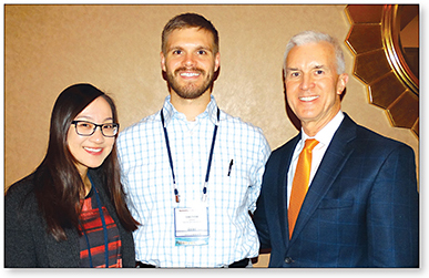 Figure 3. Photo Award Recipients (left to right): Drs. Grace Liao, Trevor Fosso, and Tom Arnold.