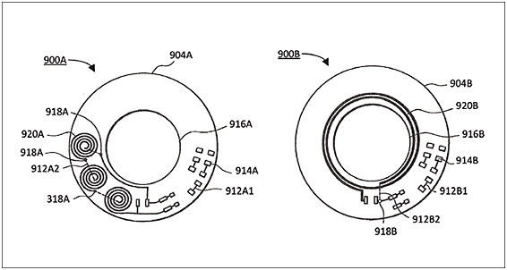 Figure 11. A regulated light source contact lens for seasonal affective disorder.