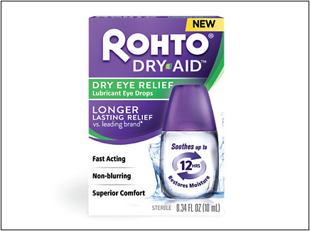 Rohto Dry-Aid helps restore moisture to the tear film by working on all three layers.