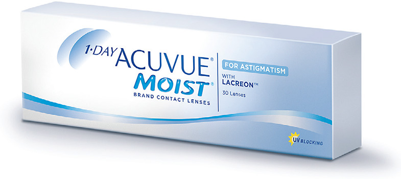 1-Day Acuvue Moist for Astigmatism now offers an expanded parameter range to fit more of your astigmatic patients.