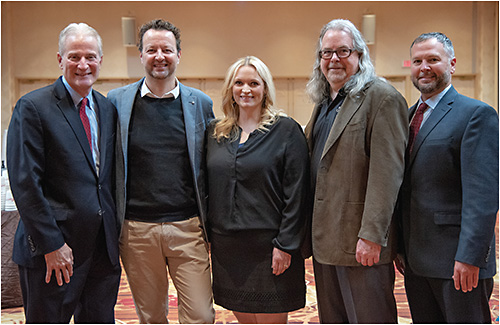 Figure 1. The 2019 GSLS Education Planning Committee (left to right): Ed Bennett, OD, MSEd; Eef van der Worp, BOptom, PhD; Karen DeLoss, OD; Patrick Caroline; and Jason Nichols, OD, MPH, PhD (chair).