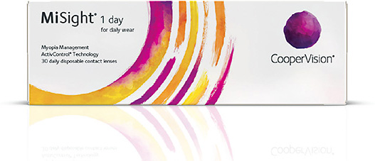CooperVision's MiSight 1 Day contact lens is indicated for the correction of myopic ametropia and for slowing the progression of myopia in children.