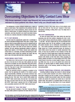 Overcoming Objections to SiHy Contact Lens Wear