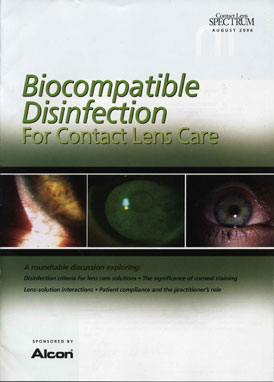 Biocompatible Disinfection for Contact Lens Care