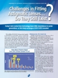 Challenges in Fitting Astigmatic Lenses... Do They Still Exist?
