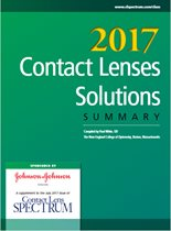 2017 Contact Lenses and Solutions Summary